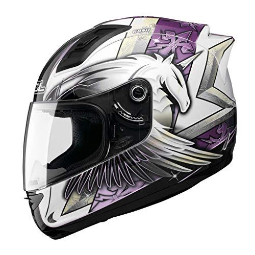 Casque moto hommes et femmes casque intégral de locomotive quatre saisons casque de course kart casque de course (Couleur : A-Xl59-60cm)