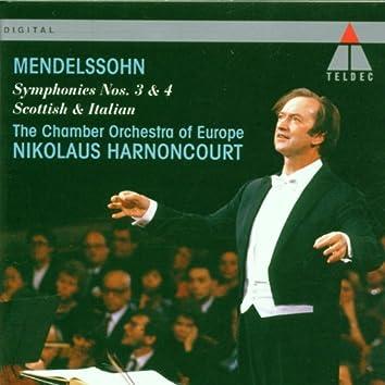 Mendelssohn : Symphonies Nos 3 & 4