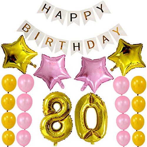 thematys Happy Birthday Palloncino da Festa - 22 Palloncini e Una Ghirlanda - per Adulti e Bambini Compleanni (80)
