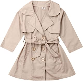 Toddler Baby Girl Fall Clothes Trench Coat Jacket Windbreaker Outwear Outfit