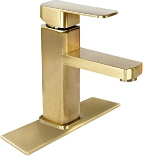 Antique Brass Bathroom Faucet Brushed Vessel Sink Single Handle Hole Deck Mount Lavatory Mixer Tap