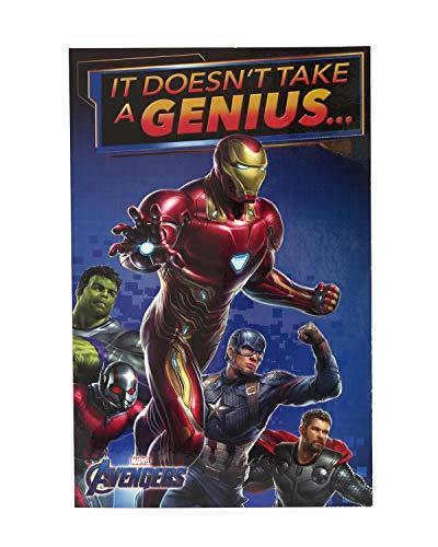 Avengers Geburtstagskarte – Ideales Geschenk für Ihn – Avengers Endgame – Avengers mit Iron Man, Hulk, Captain America, Thor, Ameisenmann – Marvel