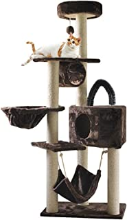 Cat Activity Trees Stand, Tall Cat Play Tower, Large Cat Condo Activity Centre, Kitty Pet Play House Kittens House Furnitu...