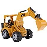 Dilwe Camion Teledirigido del Juguete del Excavador, 1: 24 Juguete del Camion de la Construccion del Excavador de 5 Canales para Ninos