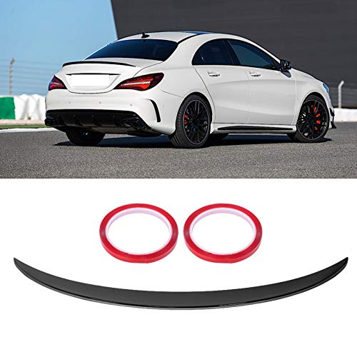 Terisass Heckspoiler Spoiler Protector Lip für AMG Style Fit für Benz CLA-Klasse C117 CLA 45 C117 glänzend schwarz