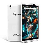 YUNTAB H8 4G Tablette, Android 6.0, Quad-Core 1,3 GHz, écran IPS 8 Pouces, 2 Go de RAM + 16 Go de ROM, Double Fente pour Carte SIM, Double caméra, 2G / 3G / 4G, GPS, WI-FI, Bluetooth (Blanc)