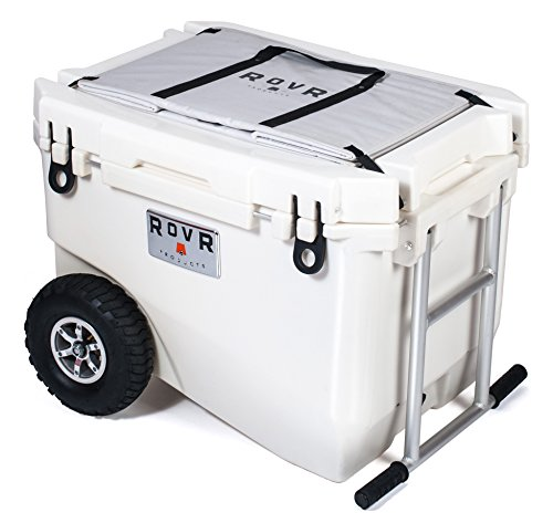 RovR Wheeled Camping Rolling Cooler with Wheels (60 qt.) (Desert)