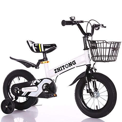 "Triciclo Bebé Trike Bicicleta para Niños Bicicletas Estaticas BH con Estructura de Acero de Alto Carbono, Adáptese a Topes de Velocidad, Caminos de Grava,White,16\"""