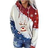Wenese 2020 Weihnachtspullover Damen Modedruck Hoodie Rundhals-Pullover Weihnachten Weihnachtspullis...
