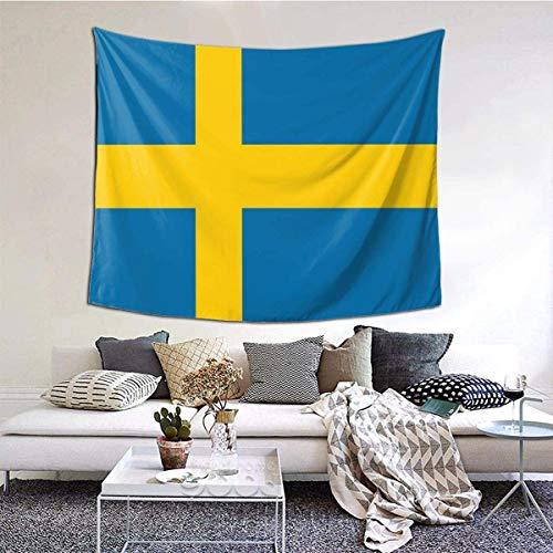 YJWLO Vlag van Zweden lichtgewicht duurzaam tapijt muur opknoping wandtapijt muur deken huisdecoratie voor Dorm woonkamer slaapkamer