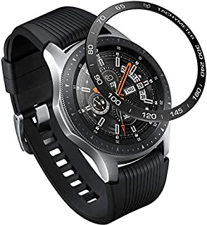 Bezel Styling for Galaxy Watch 46mm / Galaxy Gear S3 Frontier & Classic Bezel Ring Adhesive Cover Anti Scratch, Black