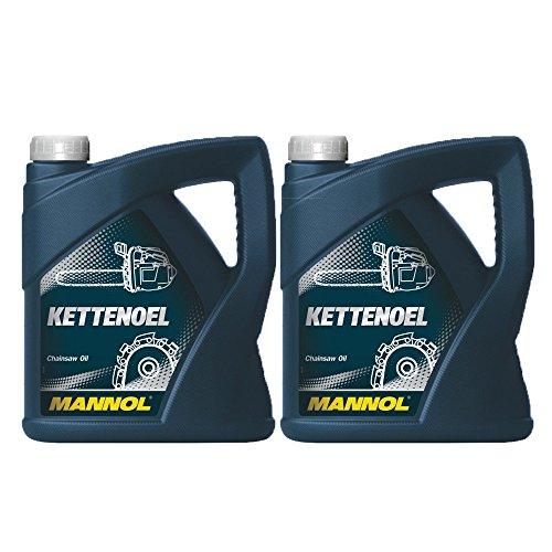 2x 4L Mannol kettenoel/sagekettenhaftöl