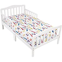 Mellanni Toddler Fitted Sheet (Light House or Animal Print)