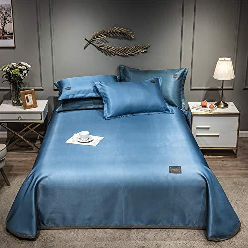 Muebles para El Hogar Color Puro Seda De Hielo Juego De Tres Piezas Textiles para El Hogar Ropa De Cama Funda De Almohada Plegable Lavable 200x230cm