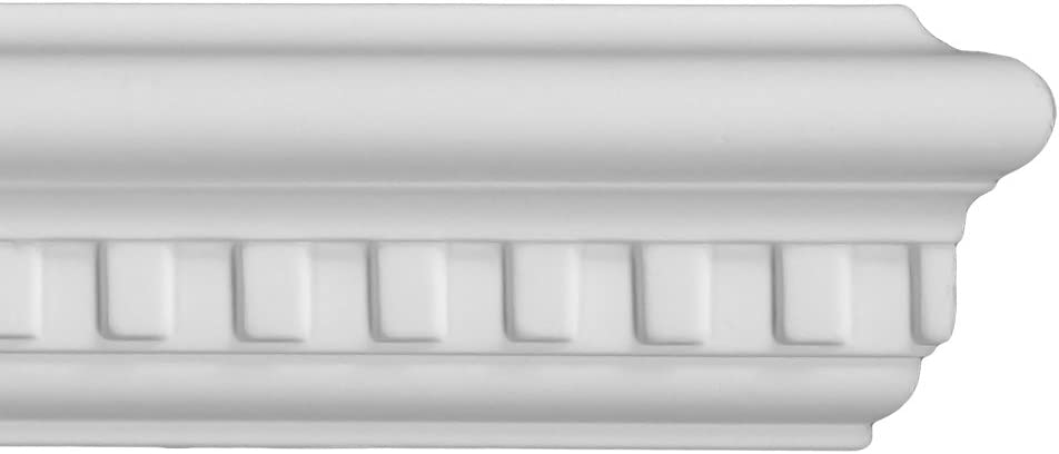 6 moldings Flat Crown Molding 3-1//2 Height 96 Length Manufactured with a Dense Architectural Polyurethane Compound