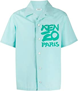 KENZO Luxury Fashion Mens FA55CH5291NC60 Light Blue Shirt |