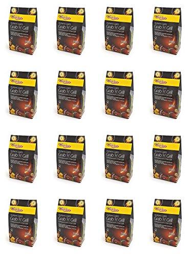 16 X Bar-Be-rapide Eclat Grab & Grill de sac de charbon de bois Lumpwood 500g Parfait pour pique-nique, barbecues bouilloire barbecues, Foyers et bien plus encore!