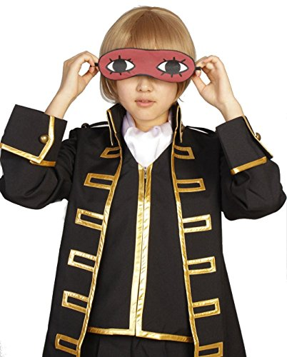 『銀魂 真選組 隊服 金縁 コスプレ 衣装 Mサイズ スカーフ アイマスク 付き 5点セット』の3枚目の画像