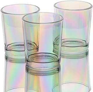 Richland Iridescent Votive Candle Holder Glass Set of 12