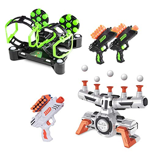 USA Toyz Astroshot Shooting Games Bundle - Astroshot Zero G Floating Hovering Ball Targets for Shooting and Astroshot Gyro GX Glow in The Dark Rotating Spinning Target Shooting Game