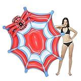CMYK Flotadores inflables Giant Spider Web Party Tube Flotadores en la Piscina, balsa de Verano en el Lounge de la Playa, flotadores en la Piscina para Adultos y niños, Kit de Parches
