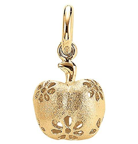 Blossom Copenhagen Charm Motiv: Apfel Farbe: Gold Material: Sterling Silver / vergoldet Anhänger für Kette.