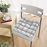 HomeStorie Chair Pad Tufted Cushion Seat Pads Seat Cushion for Indoor & Outdoor Dining Home Office Garden, 15 Inch x 15 Inch, Aqua (AR3143-AQU)