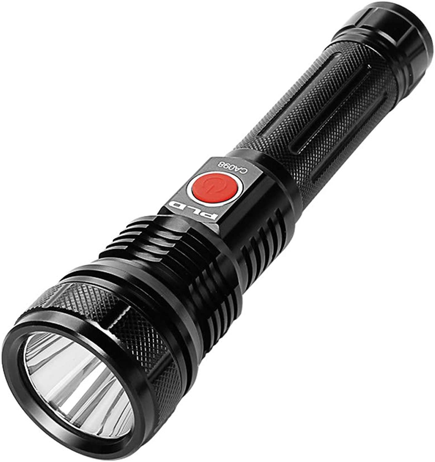 Light Flashlight USB Charging Portable Outdoor Torch Light with 5 Light Modes Camping