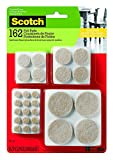 Scotch Mounting, Fastening & Surface Protection SP845 051141412306 Felt Pads, 162, Beige, 162 Pack