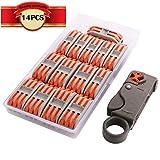 KINYOOO Lever-Nut Surtidas Conector, Bloque de Terminales de Barra de Presión Bilateral, Conductores de Surtido Conectores de Cable Compacto (SPL-2/7 Pcs, SPL-3/7 Pcs)