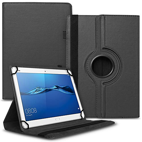 UC-Express Tablet Hülle kompatibel für Huawei MediaPad M2 10.0 Tasche Schutzhülle Hülle Cover 360° Drehbar, Farben:Schwarz