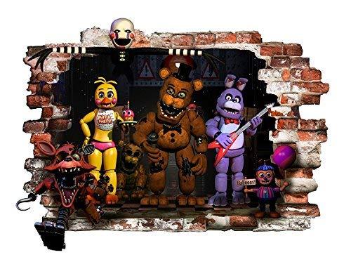 fnaf Wand Aufkleber für Schlafzimmer Fünf Nächte in Freddy Wandtattoo DECORACION Größe 78 cm x57 cm