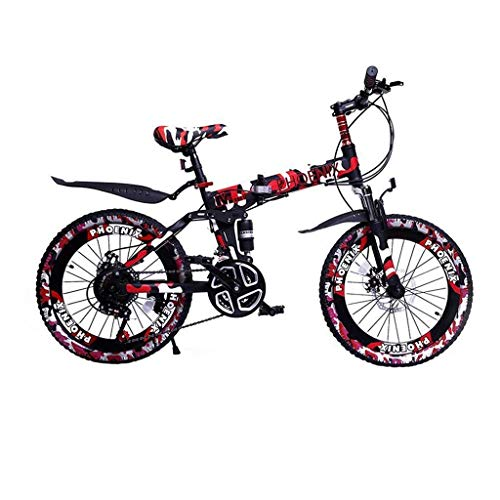 WZLJW Lquide Kinderfahrräder, Kinderfahrräder, Boy Speed ​​Bikes 6-15 Jahre alt, Mountain Bikes, Camo Brown LIN ggsm (Color : 20 Inches|red)