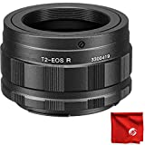 Opteka T-Mount (T2) Lens Adapter Bundle with Circuit City Microfiber for Canon EOS RF-Mount R, RP and Ra Mirrorless Digital Cameras