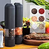 Electric Salt and Pepper Grinder, Adjustable...