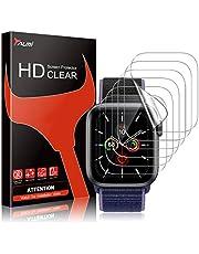 TAURI 6 Pack Screen Protector Voor Apple Horloge Serie 6 5 4 SE 40mm Bubble Eenvoudige Installatie HD Clear TPU Beschermende Film Compatibel iWatch 40mm Serie 6 5 4 SE