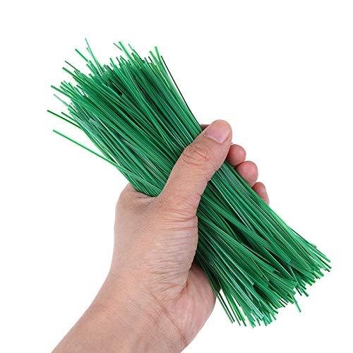 Oulensy Coated 500pcs Jardín Precinto De Amarre Planta Verde Suave Lazos De Plástico De 20 Cm De Soporte De Alambre del Organizador del Cable Multipropósito