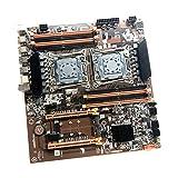 Gazechimp X99 Dual CPU Motherboard LGA 2011 v3 E-ATX USB3.0 SATA3 with Dual Xeon Processor with Dual M.2 Slot 8 DIMM DDR4 2011-3