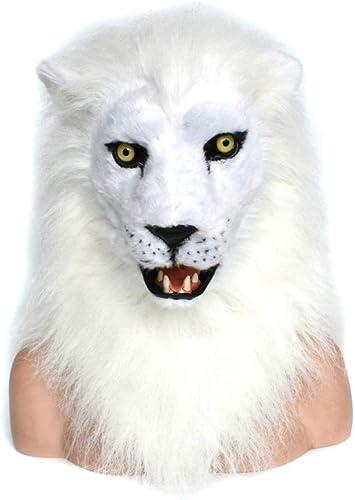 mejor reputación AIYASHIWEI-MASKS Máscaras de Animales para Fiestas Varias para para para el Evento de Halloween, blanco Lion, máscara de Boca móvil para Pelaje Decorado con diversión (Color   blanco, Talla   25  25)  venta de ofertas