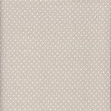100% Baumwolle Stoff | Grau-Beige (Perlhellgrau) | Kleine