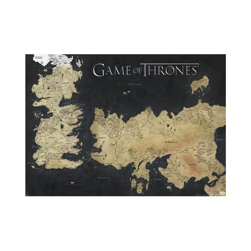 Game of Thrones Map: Amazon.de Map Of Game Thrones Poster on