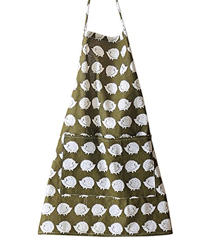 Moolecole Home Kitchen Baking Aprons for Couples Cotton Linen Overalls with Pockets Professional Str - http://coolthings.us
