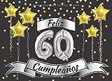 Feliz 60 cumpleaños: El Libro de visitas con 40 páginas en color para felicitaciones : Regalo original para hombres y mujeres : Libro de firmas para la fiesta de cumpleaños
