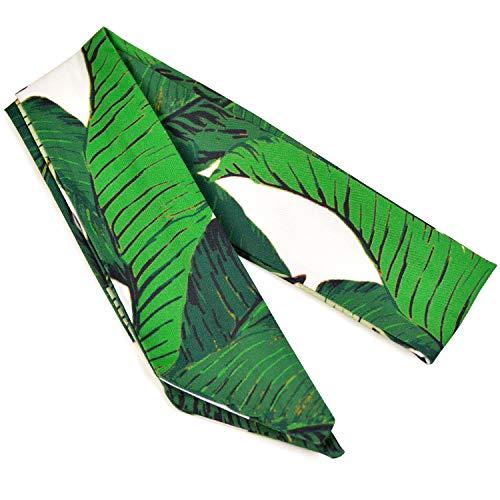 ヘアスカーフ スカーフ ヘアバンド バンダナ へアクセサリー ヘアアレンジ リボン 3color (グリーン)