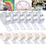 Arco para Globos, Kit de Cinta de Tira Decorativa, Tiras de Cinta de Globo con,para Globo Arch Garland Suministros de Fiesta Decoraciones (12 Rollos)