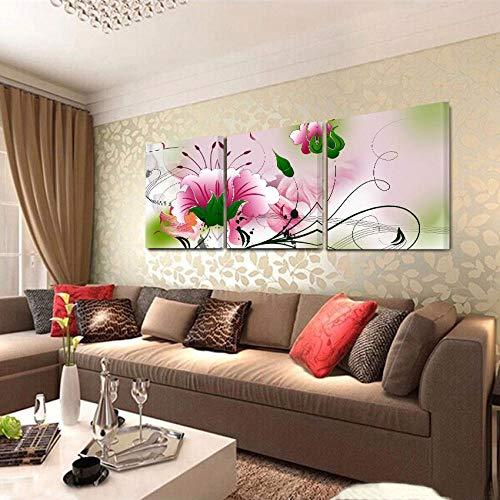 CYACC Keine Rahmen Ölgemälde Fallout Leinwand Gemälde An Der Wand Kunst Dekorative Bild Wohnzimmer Und Schlafzimmer Ölbilder Blumen @ 60x60cm3pcs_No_Frame_Painting_4