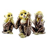 echomerx See, Hear, Speak No Evil Monkey Trinket Box Deluxe Set