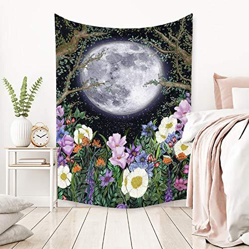 Moda De Estilo Europeo Fase Lunar Tapiz De Flores Impresión Tela De Fondo Duradera Tela De Decoración del Hogar Sala De Estar Dormitorio Dormitorio Cabecera Casa De Familia Tapiz