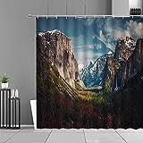 XCBN Duschvorhänge Natürliche Landschaft 3D-Druck Landschaft wasserdichte Badezimmer Vorhang Badewanne Bildschirme Wohnkultur A10 150x200cm