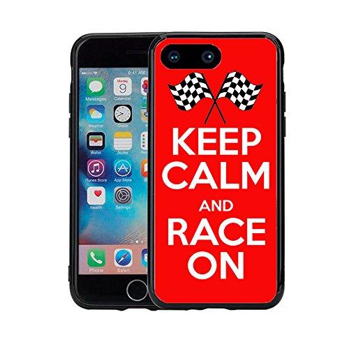 Keep Calm and Race on für iPhone 7Plus (2016) & iPhone 8Plus (2017) (5,5) Schutzhülle von Atomic Markt